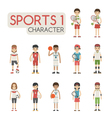 Set of cartoon sport characters eps10 for vector image