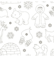 set of eskimo characters pattern vector image