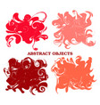 set of ink blotsbrush blots collection grunge vector image