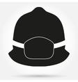 Silhouette symbol of fireman helmet vector image