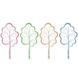 Trees pictograms vector image