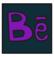 Unusual look web icon of modern social network vector image
