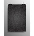 Vertical Poster Tile Honey Comb Grey Background vector image
