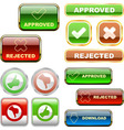 approved and rejected elements vector image vector image