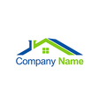 house roof abstract business company logo vector image