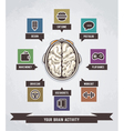 brain activity infographics vector image