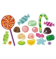 various sweets and candies vector image vector image
