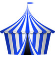 blue circus tent vector image
