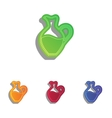 Amphora sign Colorfull applique icons set vector image