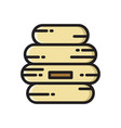 beehive bee hive thin line flat style icon vector image