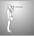 businessman looking through binoculars with wrong vector image