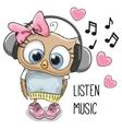 Cute Cartoon Owl Girl vector image