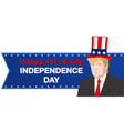 Donald trump independence day vector image
