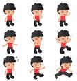 Man Cartoon Emotion Character Set vector image