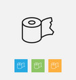 of hygiene symbol on toilet vector image