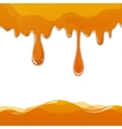 Sweet honey drips seamless vector image