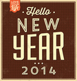 Vintage New Year Typographic Background vector image