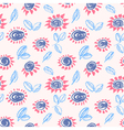 Abstract ink floral background vector image vector image