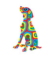 rainbow dog 5 vector image