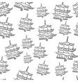 pagoda tower seamless vector image