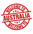 welcome to australia red stamp vector image