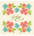 spring symmetry vector image