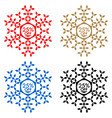 25 off discount sticker snowflake 25 off sale vector image