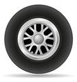wheel for racing car vector image