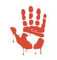 Blood trail vector image