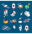 Space Isometric Icons vector image