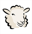 sheep portrait vector image vector image