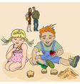 Children Having a Play Date vector image