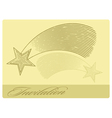 Invitation card with shooting star vector image vector image