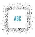 Alphabet Frame isolated on white background vector image