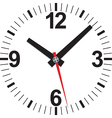 Analog clock icon vector image