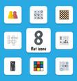 flat icon entertainment set of cube gomoku vector image