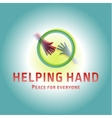 Helping Hand adult and children logo icon charity vector image