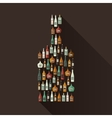 Icons of alcoholic beverages vector image