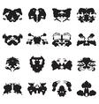 Rorschach test inkblots vector image