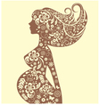 Silhouette pregnant vector image