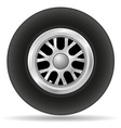 wheel for racing car vector image