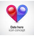 Date icon concept vector image vector image