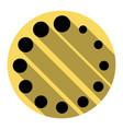 circular loading sign  flat black icon vector image