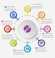 infographic template with media icons vector image