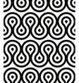 Grotesque waves seamless pattern black and white vector image vector image