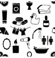 doodle bathroom seamless pattern vector image