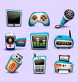 multimedia icons blue color-part 2 vector image