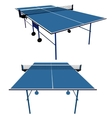 Ping pong blue table tennis vector image vector image