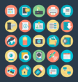 Communication Colored Icons 2 vector image