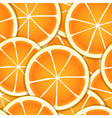 Citrus segments seamless background vector image